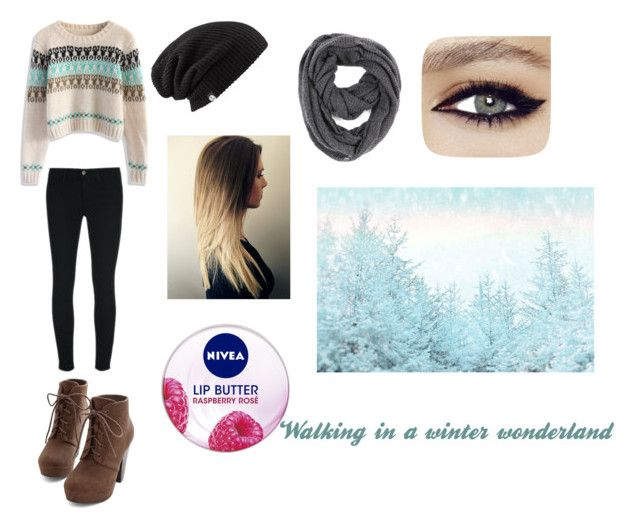 """Winter"" by wild-for-style ❤ liked on Polyvore featuring Chicwish, J Brand, Paula Bianco and Nivea"