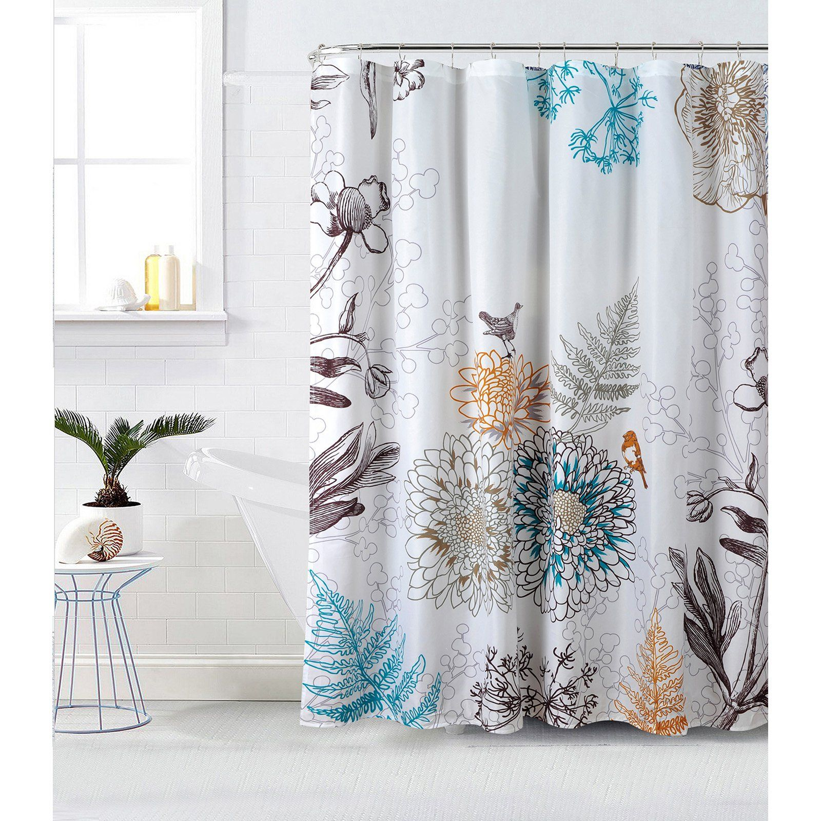 Style Quarters Birdie Shower Curtain White Multicolor Bird
