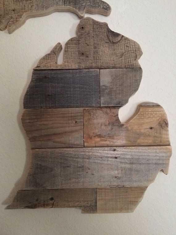 Reclaimed Wood Michigan Sign by HarborAndHome on Etsy ...
