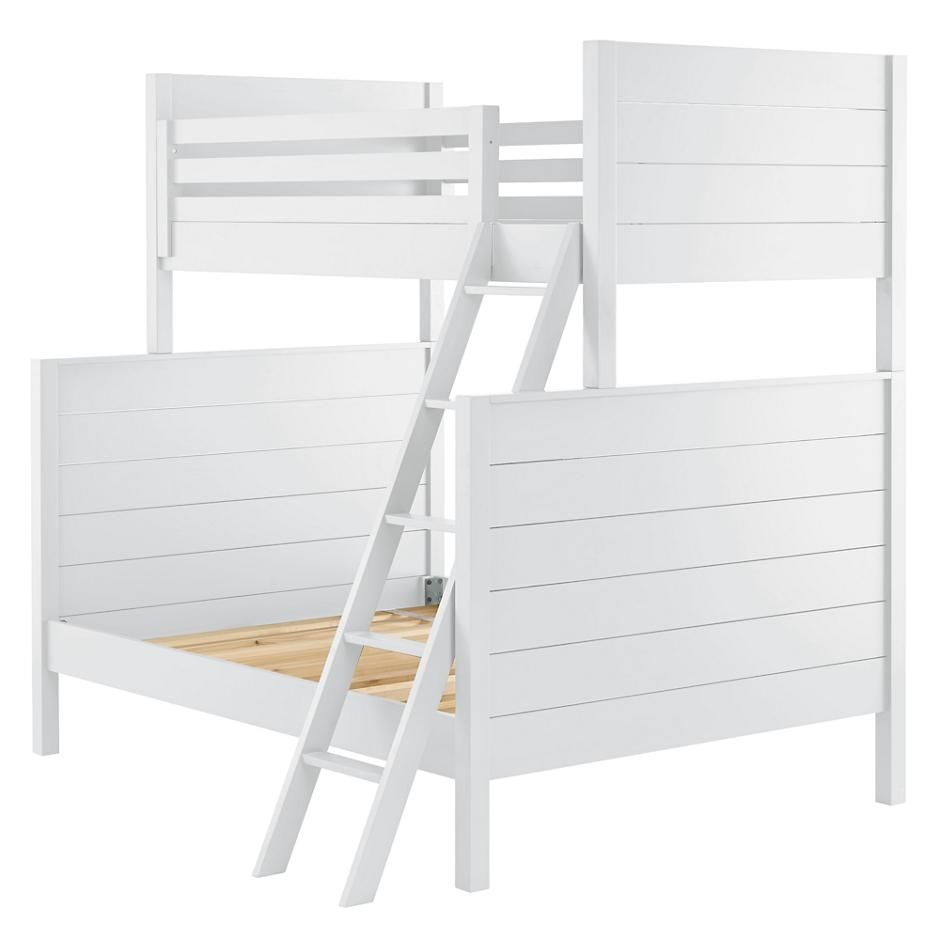 uptown twin over full bunk white bunk bed shared bedrooms and twins