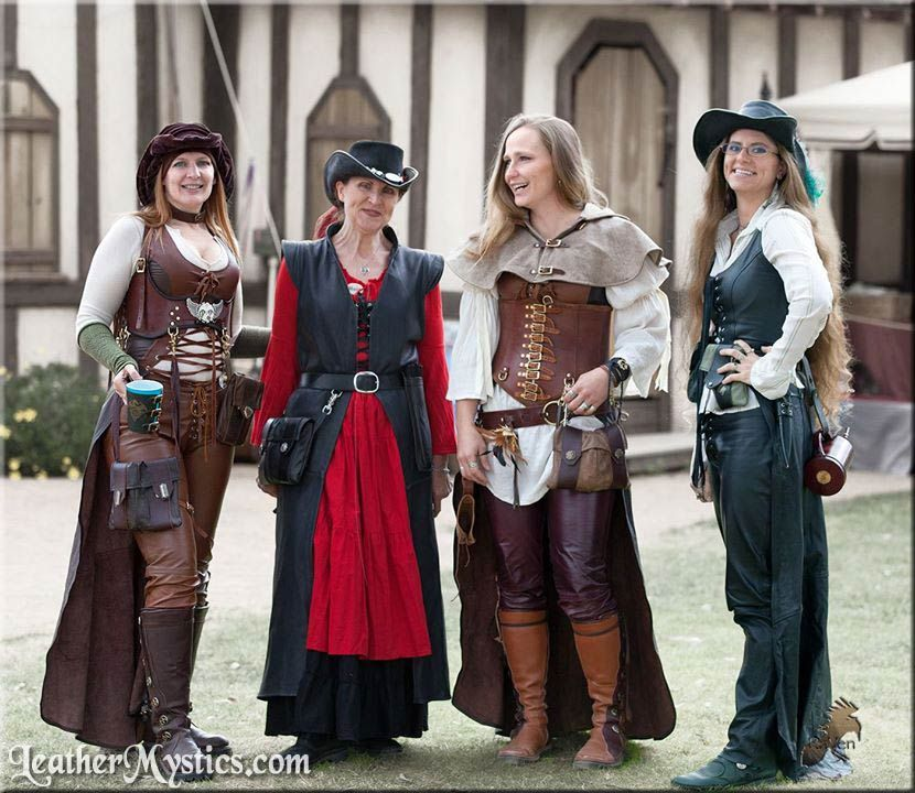 Leather Mystics custom fetish Renaissance Pirate bdsm re