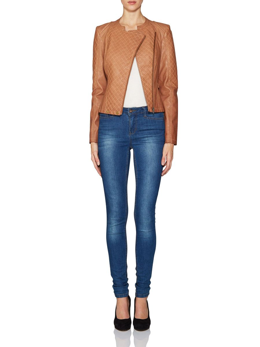 SHORT PU JACKET - Vero Moda