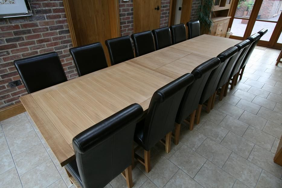 Table And Winchester Solid Oak Chairs Shown Below Seats 10 Or 12 Inspiration Dining Room Tables That Seat 10 Decorating Design