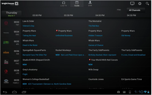 Bright House Tv Guide Android Tv Guide Whale Wars The Mentalist