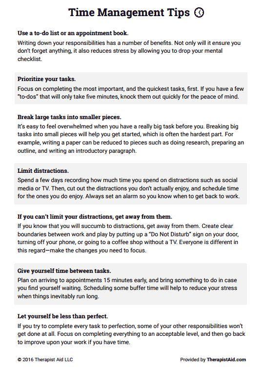 Time Management Tips Preview | Job | Pinterest
