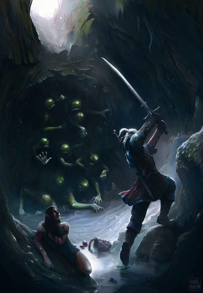 Evil lurks in the shadows! Fanart by: Kamil Murzyn Arts.