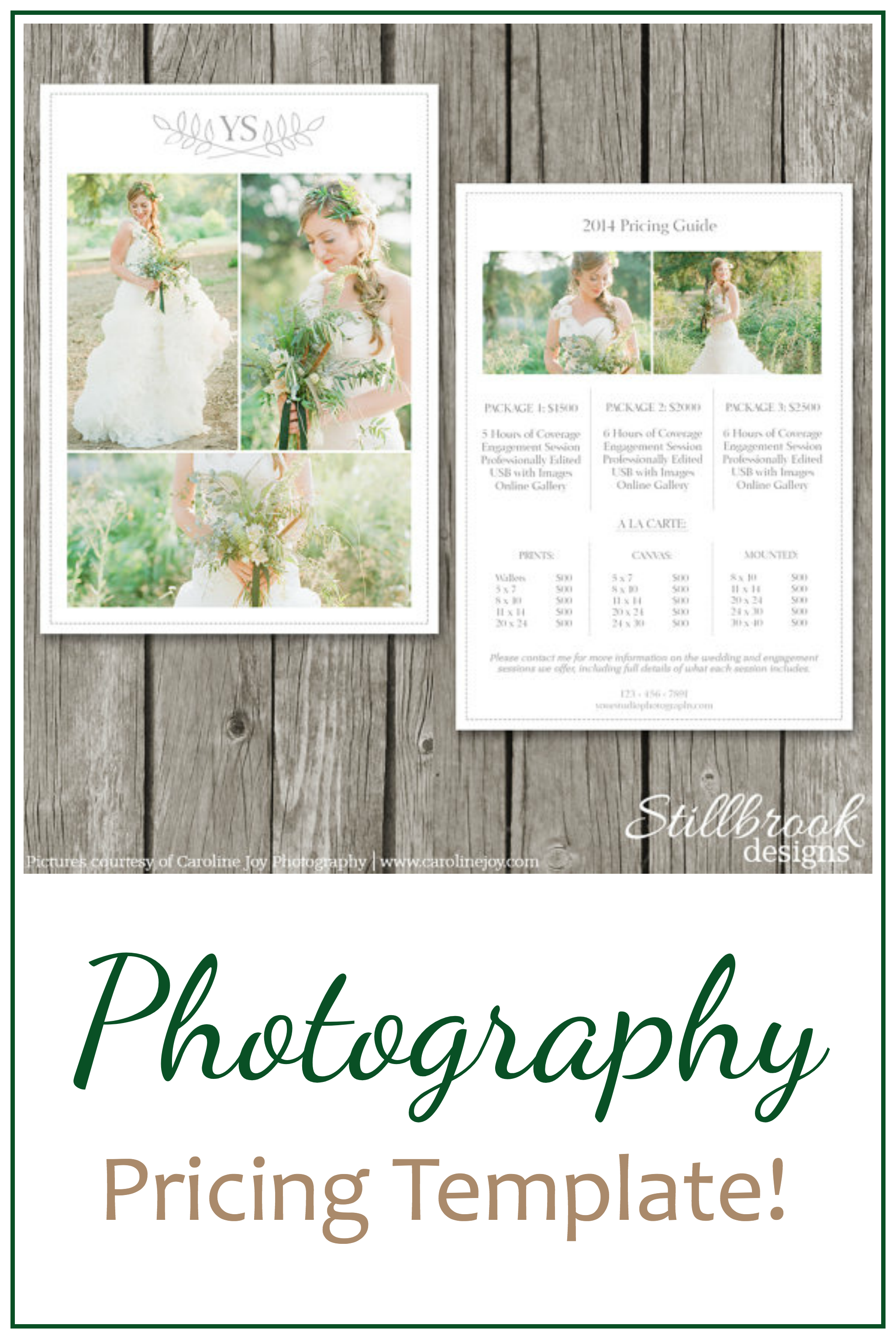 love how gorgeous these pricing templates are perfect for a wedding