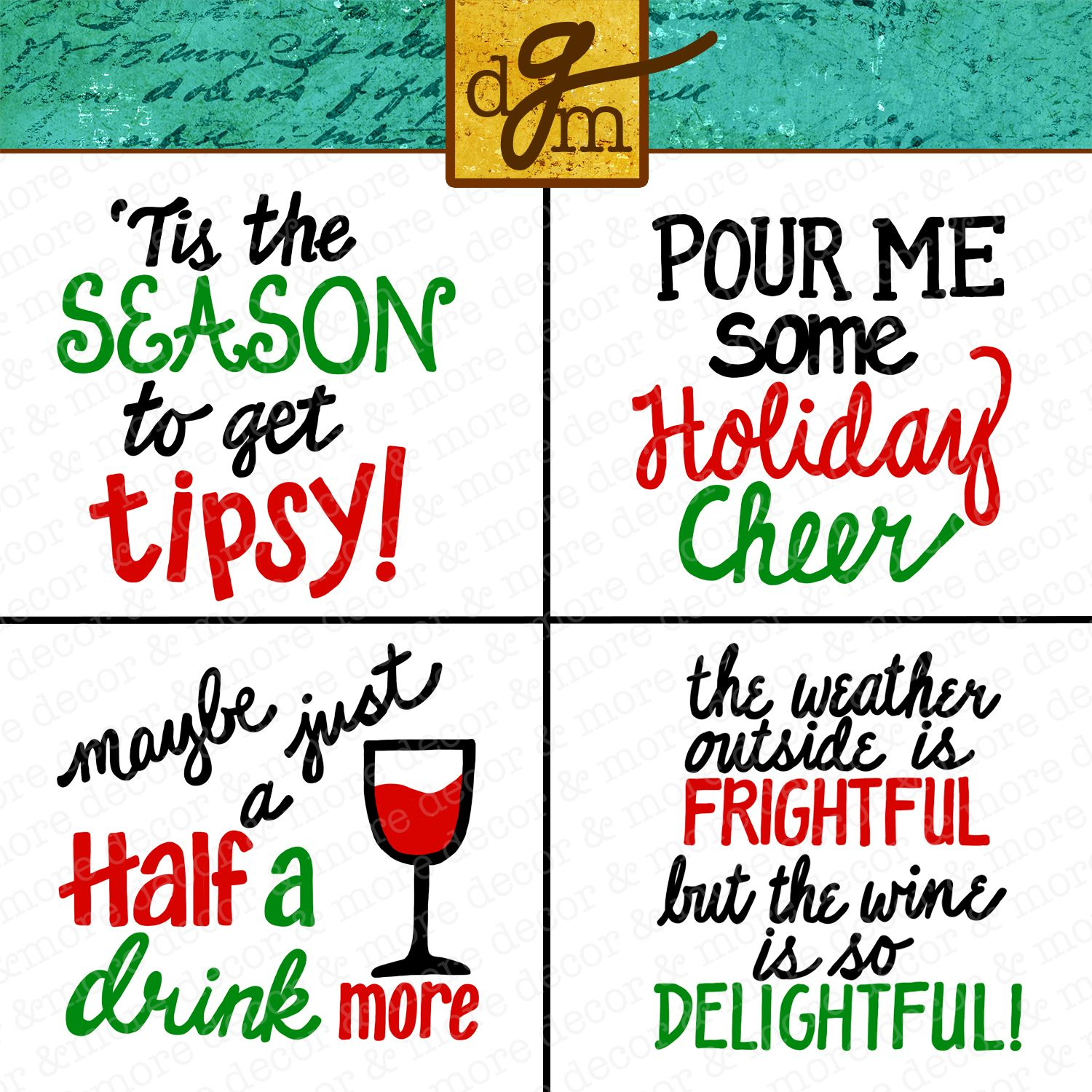 Christmas Wine Glass SVG Bundle. Funny Christmas Wine
