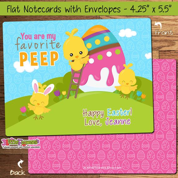 chick easter cards personalized easter cards for kids classroom