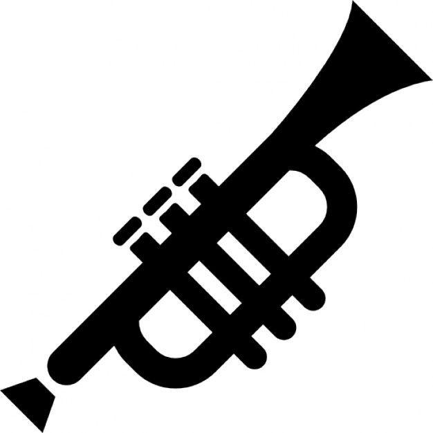 Download Trumpet Silhouette For Free Trompeta Dibujo Trompeta Disenos De Unas