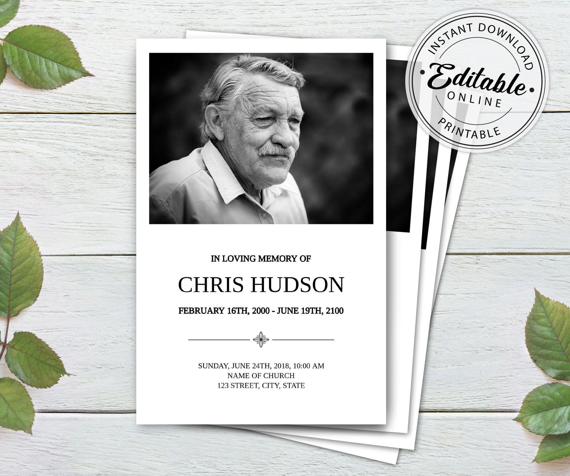 Death ceremony invitation template – Artofit With Death Anniversary Cards Templates