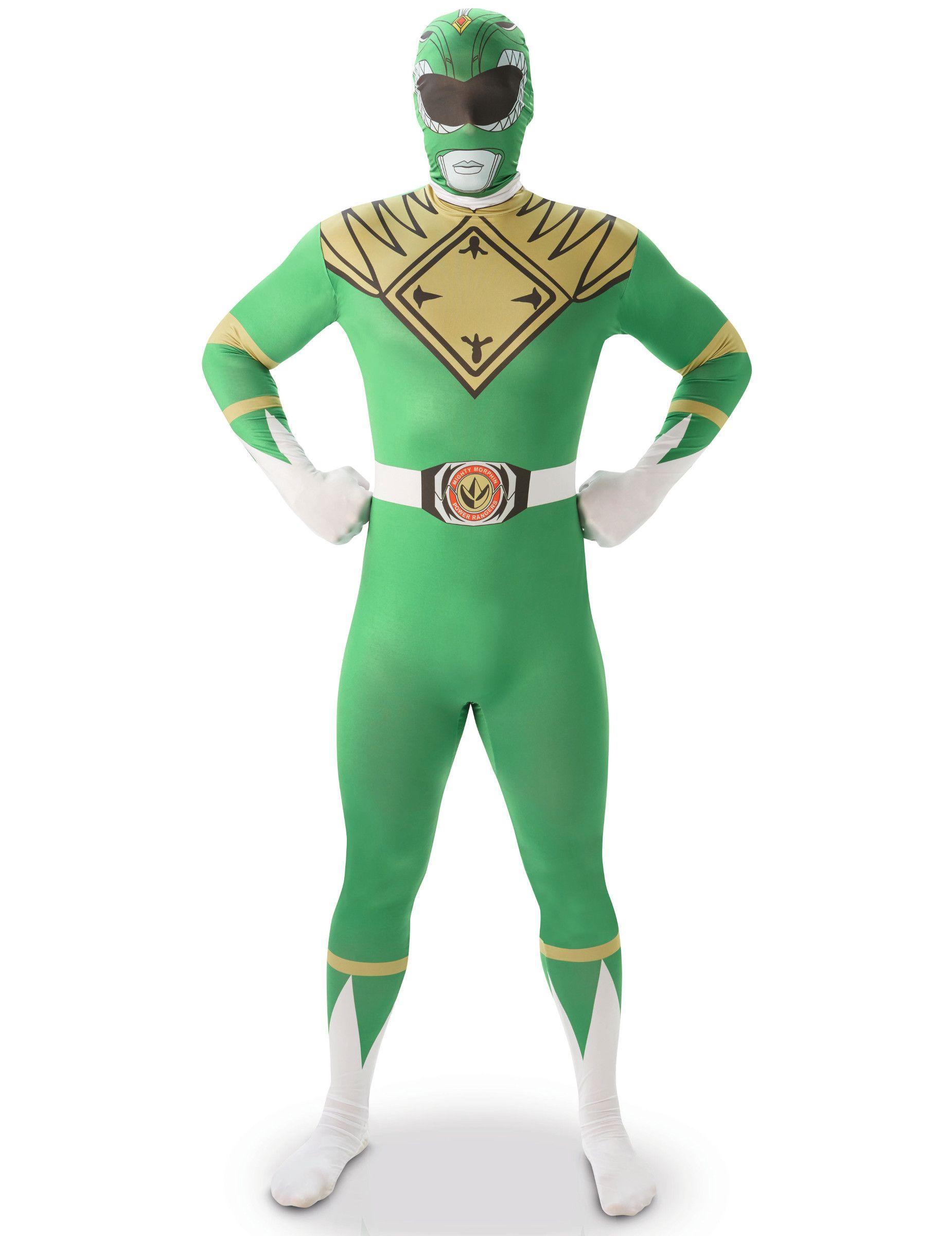 Disfraz Segunda Piel Power Rangers Verde Hombre En 2020 Disfraz