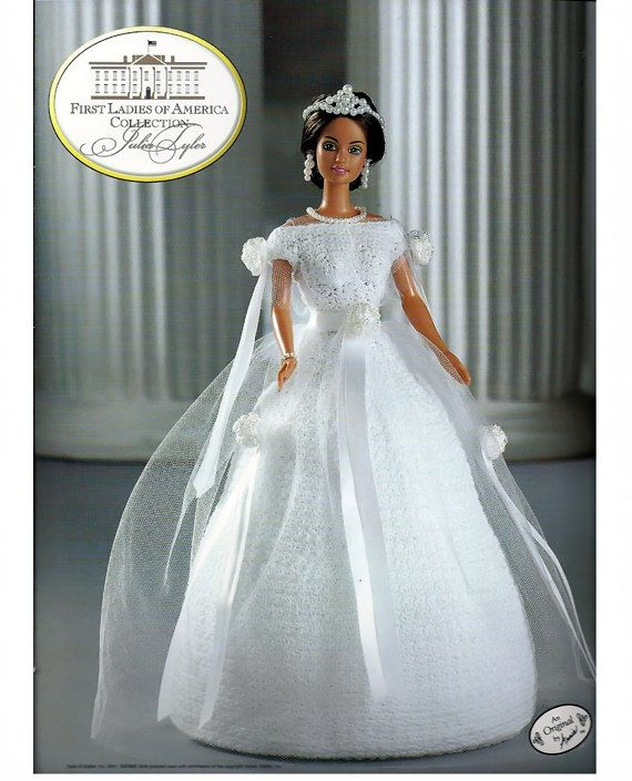 First Ladies of America Collection Julia Tyler Fashion Doll Crochet ...