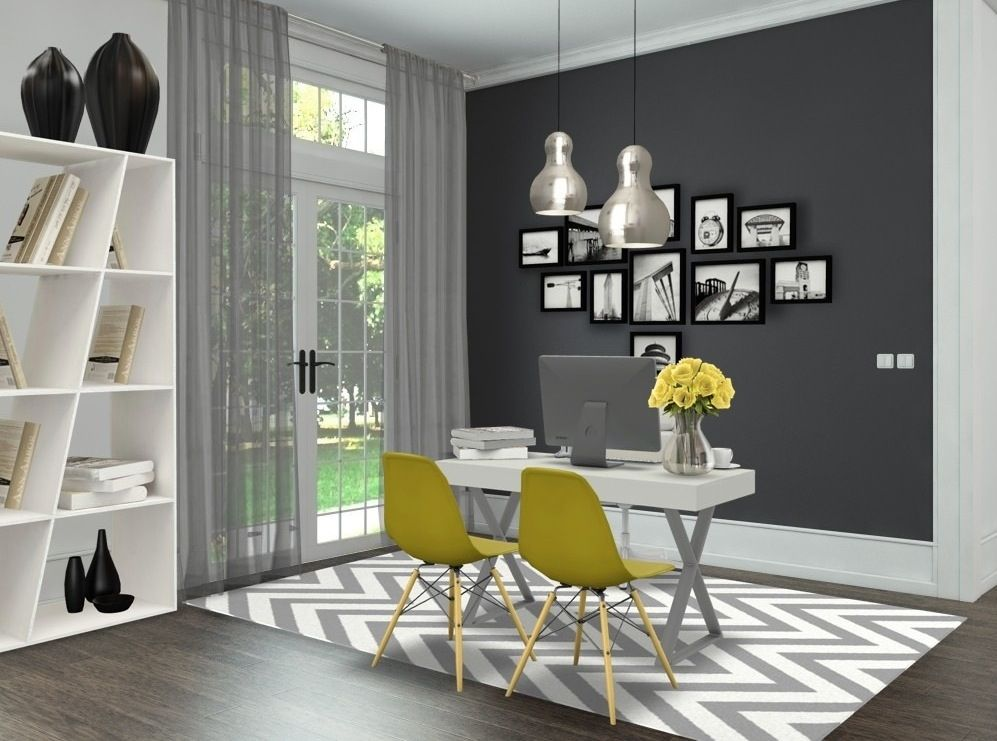 best 25 yellow office ideas on pinterest yellow home offices yellow office furniture and. Black Bedroom Furniture Sets. Home Design Ideas