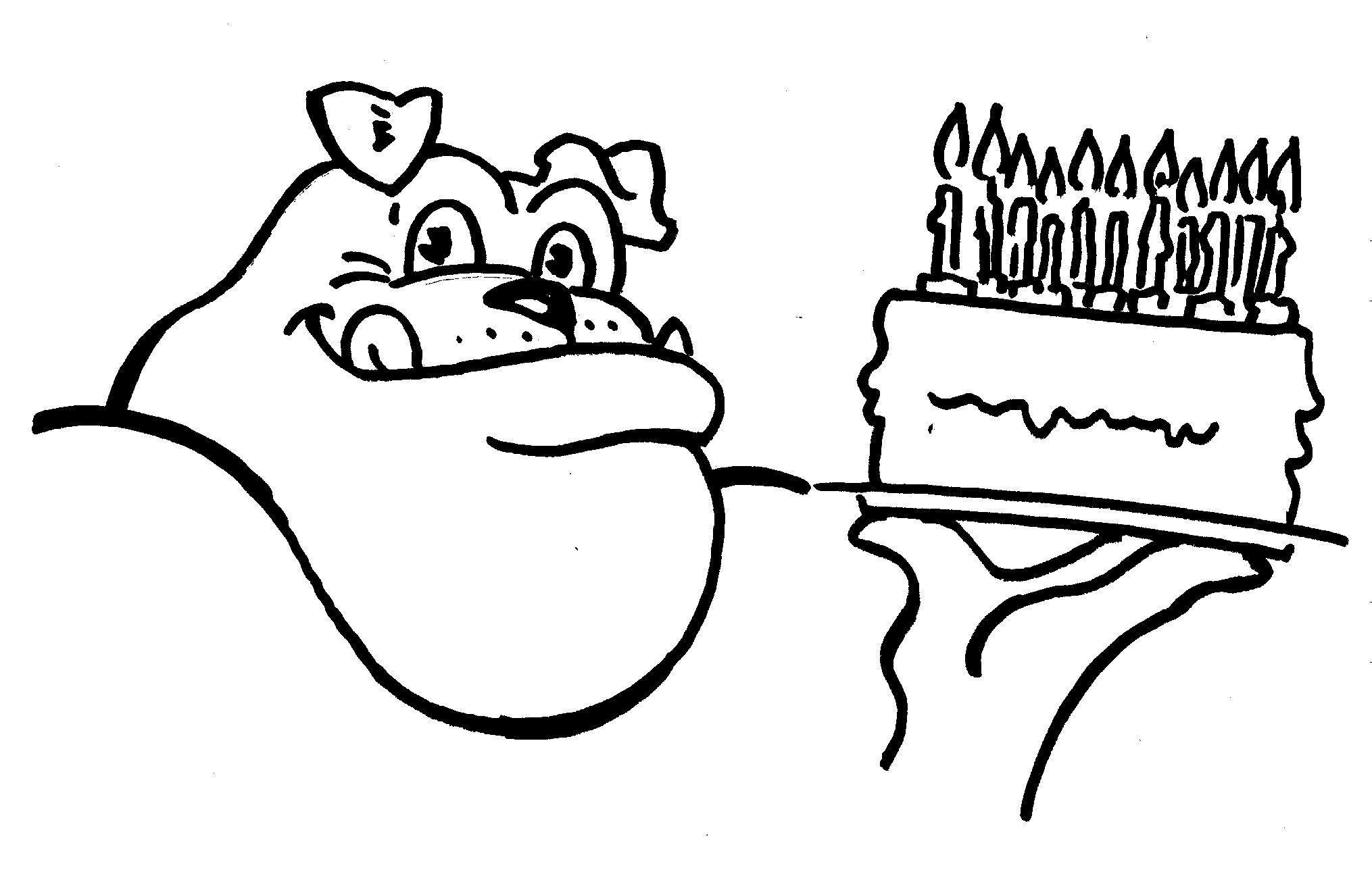 Uga Birthday Dawg Coloring Sheet Printable