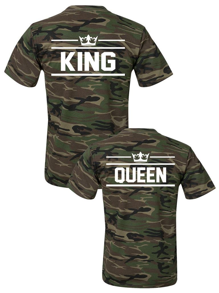 fa77408a Matching KING and QUEEN t-shirts ☆ SPECIAL ARMY COLLECTION ☆ King Queen  tshirts, Camo couples tshirts, Matching couples shirts, pärchen t-shirts,  Paar T- ...