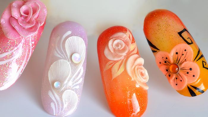 Quelques Idées Nail Art One Stroke Et 4d Aquarelle Tartofraises