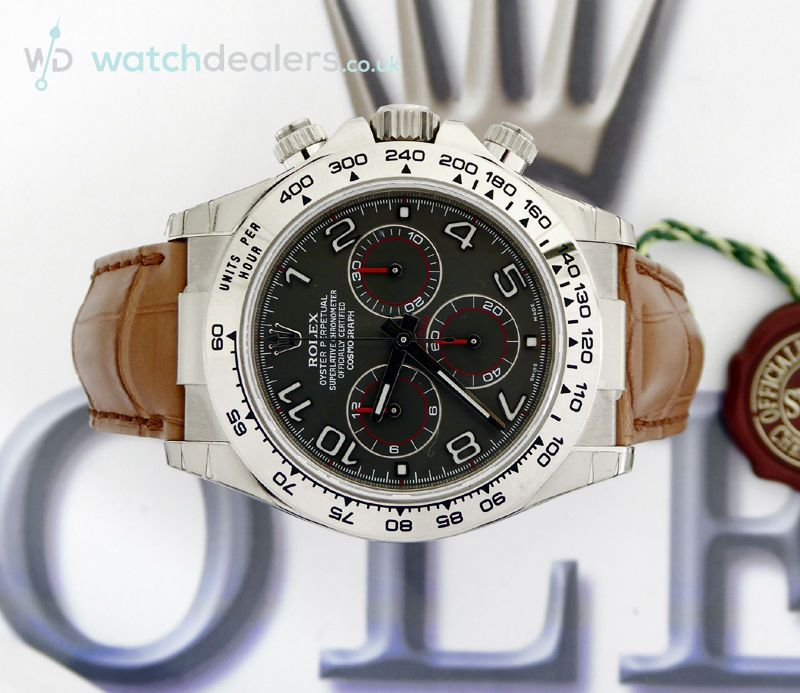 Unworn factory sealed collectors white gold Rolex Daytona