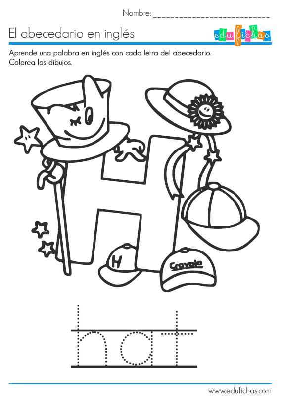 abecedario-ingles-h-hat.png (570×810) | ABC | Pinterest | Preschool ...