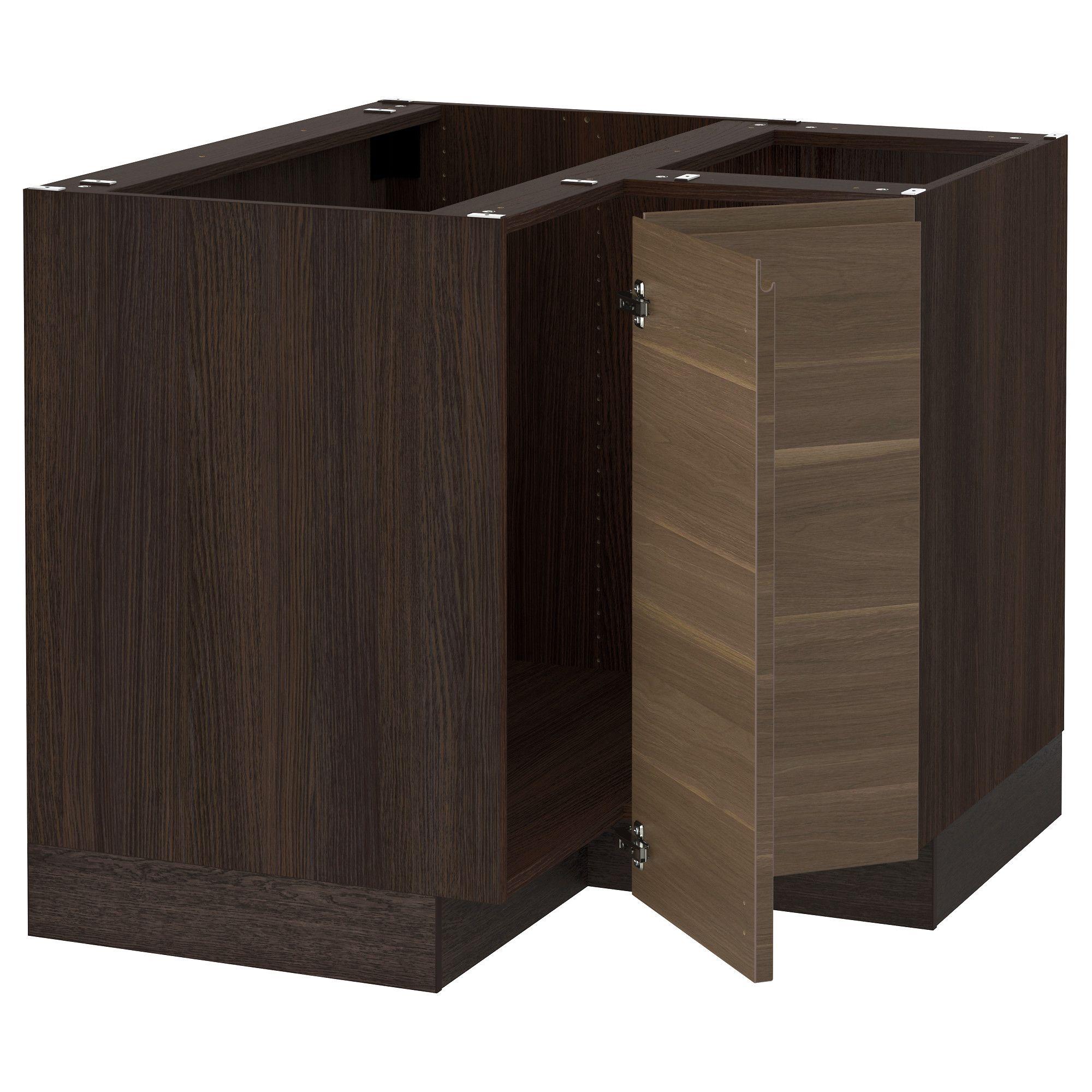 IKEA - SEKTION wood effect brown Corner base cabinet for sink Frame