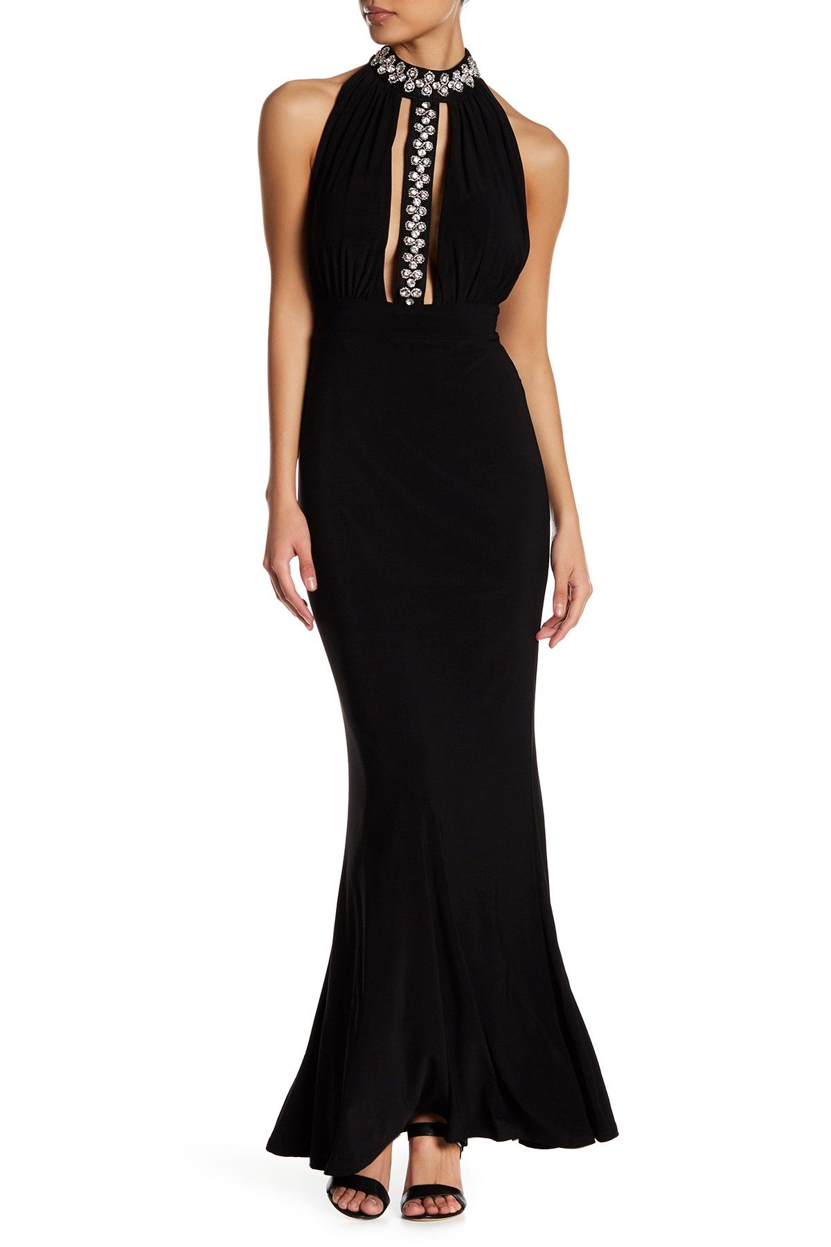 Stone halter gown by trixxi on nordstromrack formalities