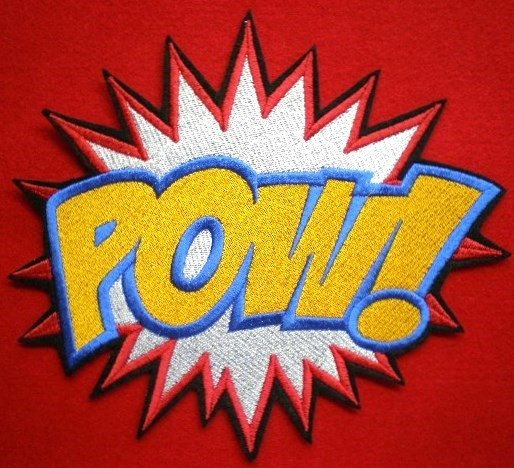Pow Sound Attack Super Hero Cartoon Embroidered Iron on Patch