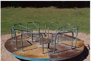 merry-go-round I so remember running around that thing!