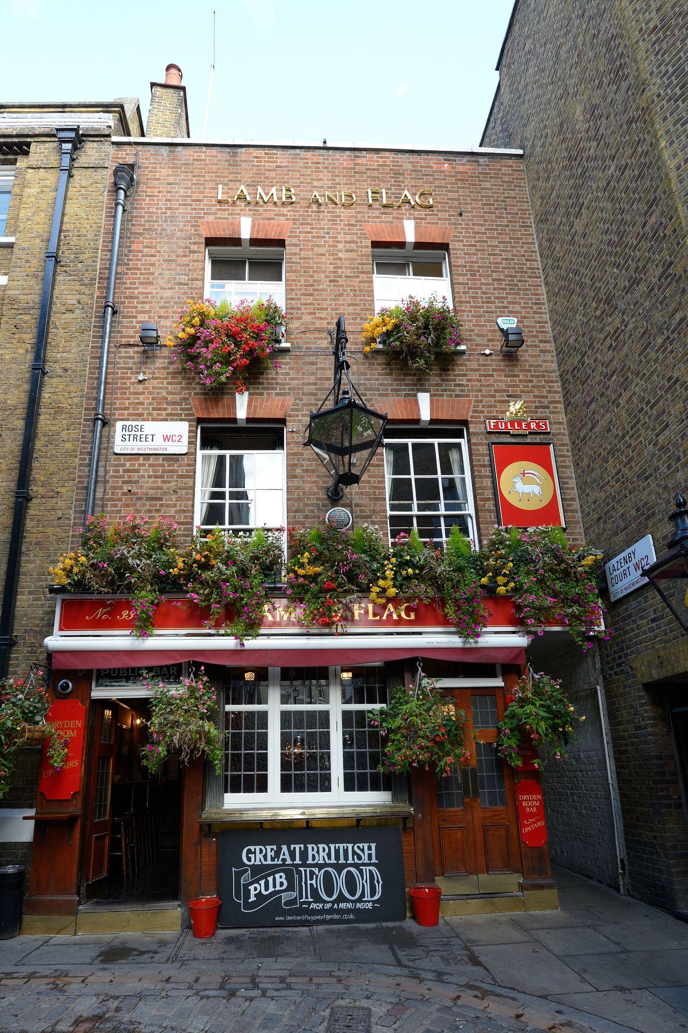 The Lamb and Flag a Fullers pub near Covent Garden