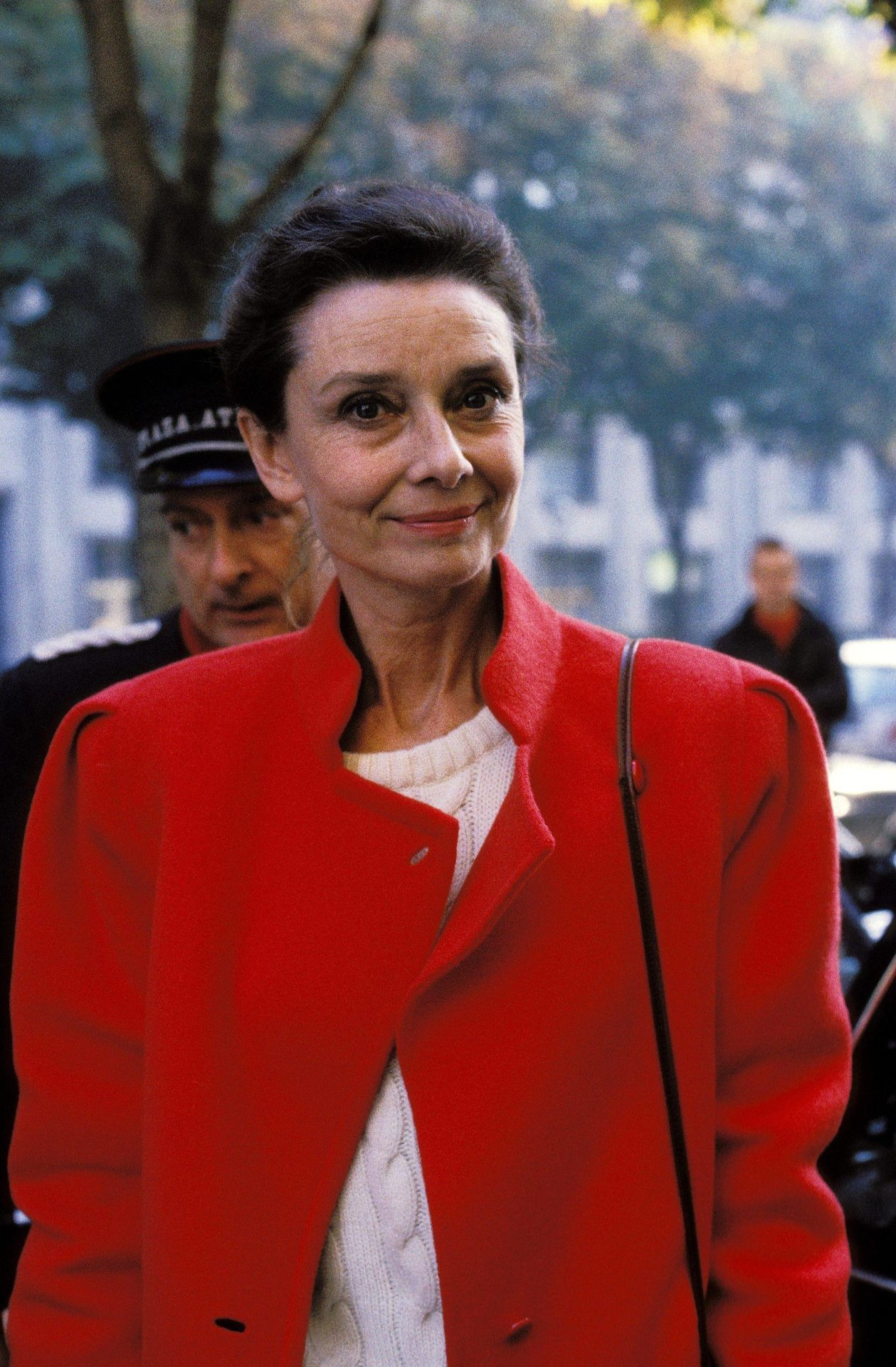 Audrey Hepburn photographed by Othoniel in Paris (France), on October 22, 1985.
