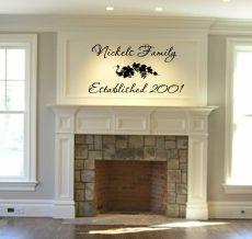Family Monogram Grape Vine Wall Decal