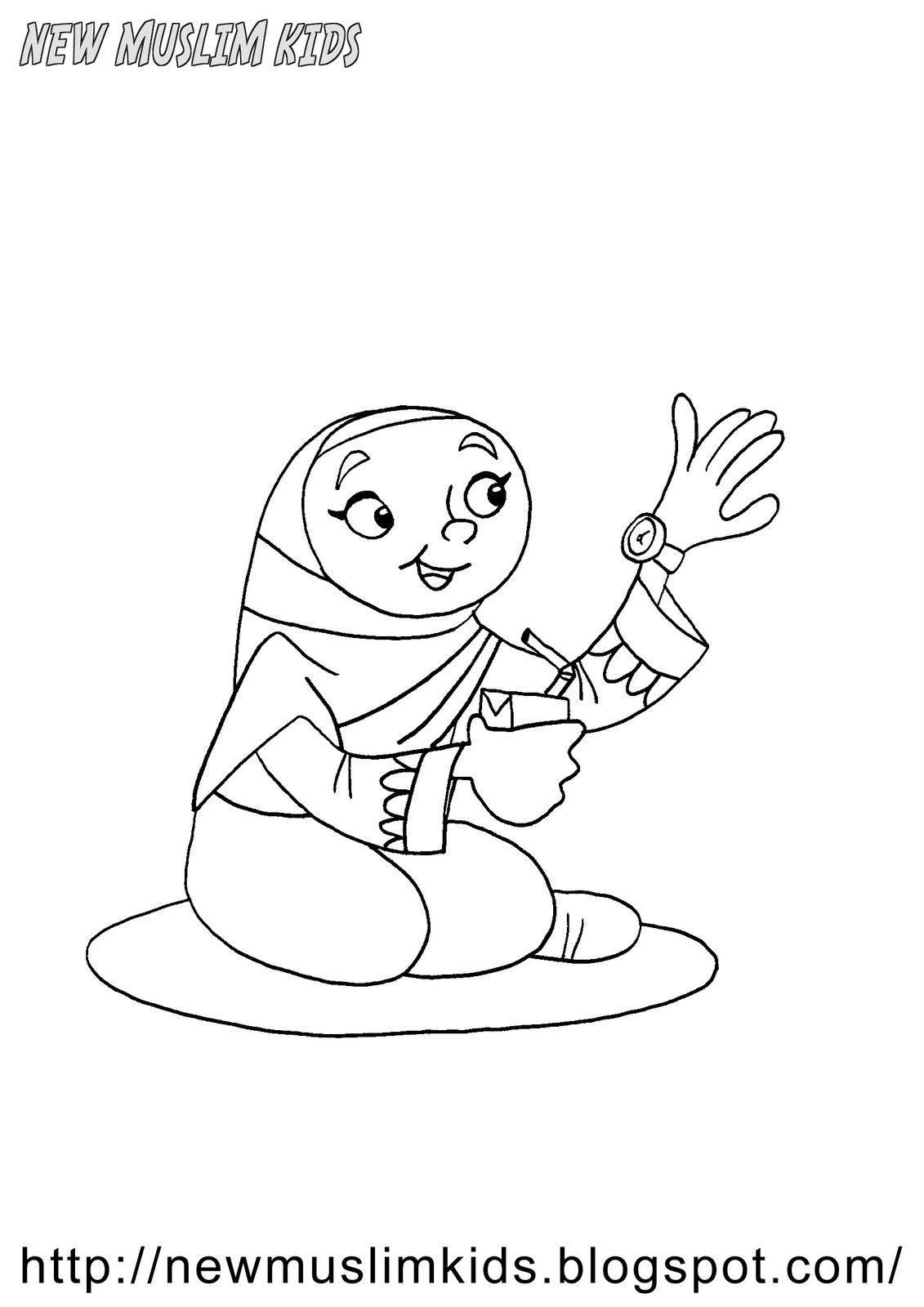 Iftar Time Coloring Page