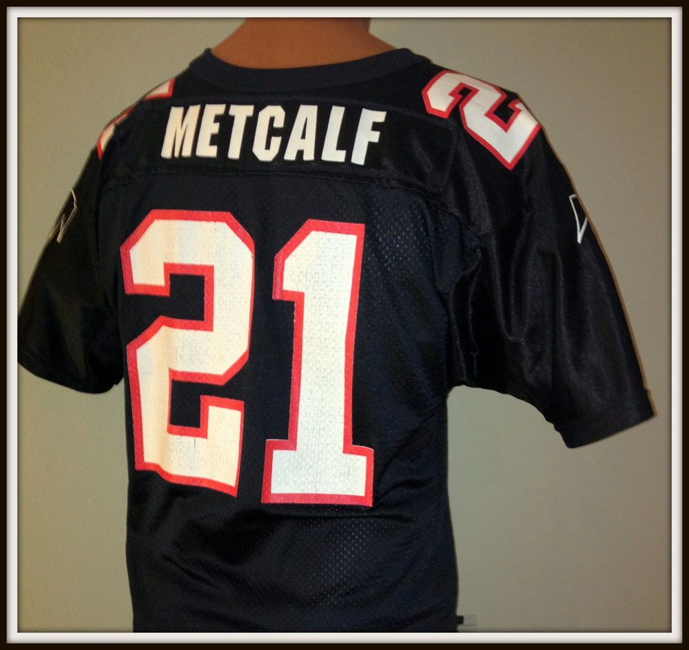Atlanta Falcon Eric Metcalf Wilson Replica Jersey Youth Large 14 16 Free Ship Atlanta Falcons Atlanta Falcons Quotes Atlanta