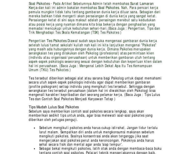 Contoh Soal Psikotes Dan Jawaban Terbaru Psikotest Kunci Jawaban Buku Ori Album Lengkap Soal Soal Psikotes Contoh Soal Psikotes Dan Kunc Buku Tahu Gambar