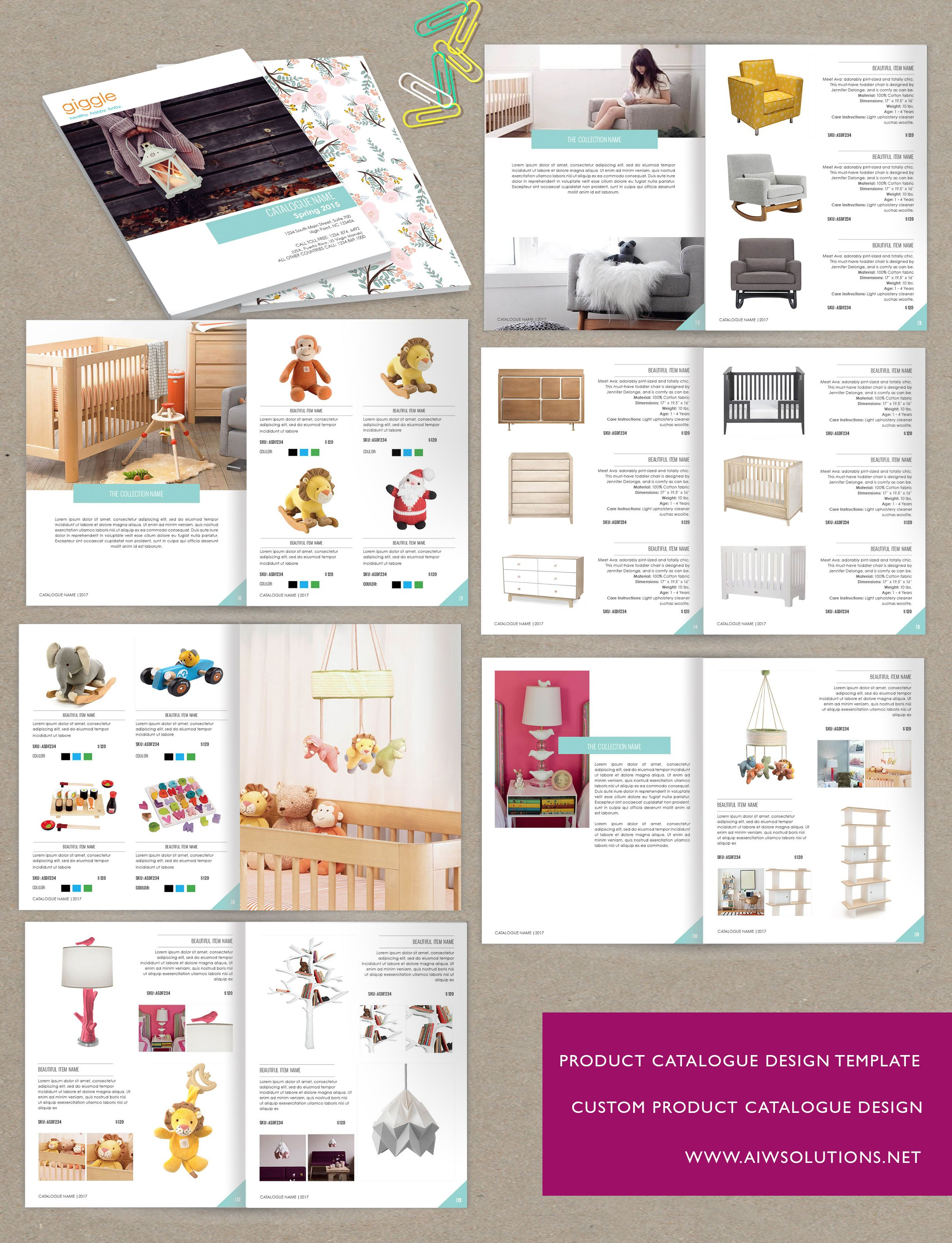 Wholesale catalog template id05 product catalog template for Product brochure template