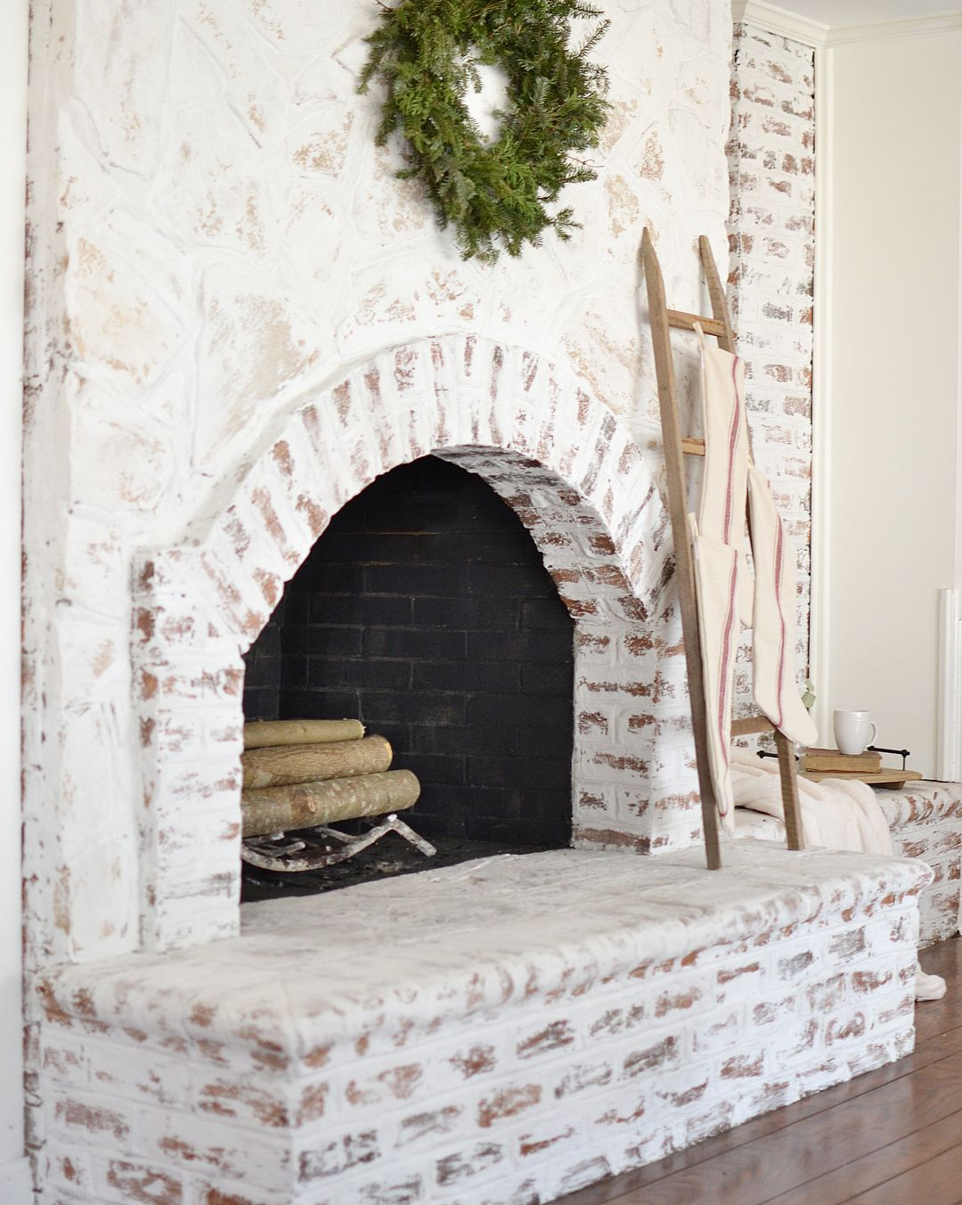 Here Are The 43 Best German Schmear Projects Around Gorgeous German Smear An Easy Inexpensive Br Home Fireplace Brick Fireplace Makeover Cottage Fireplace