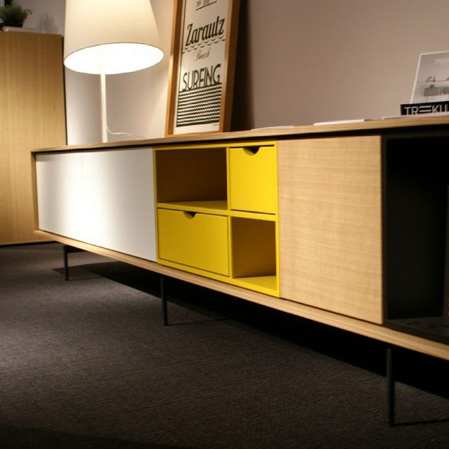 Treku aura yellow wood pinterest interiors for Boconcept meuble tv