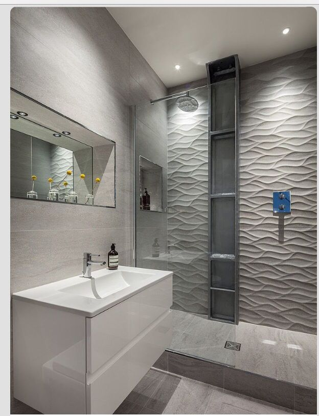 Bathroom Tile Idea  Install 3D Tiles To Add Texture To Your Classy Bathroom Wall Tiles Designs Picture Review