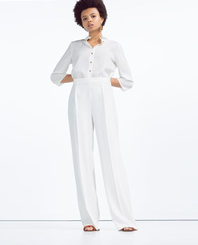 Image 1 of FLOWING PALAZZO TROUSERS from Zara