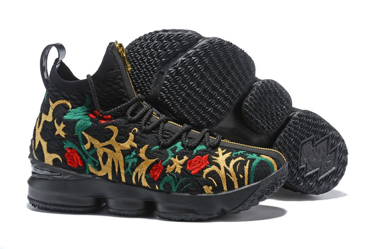 e54ad28bc5c Kith x Nike LeBron 15 Long Live the King Black and Gold For Sale ...