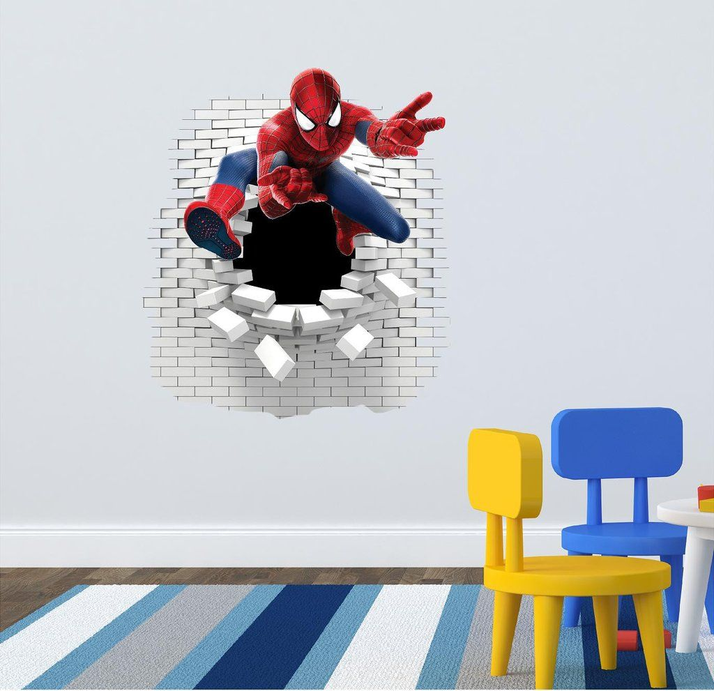 Beautiful Spider Man Wall Decal 63 X 58 Cm.