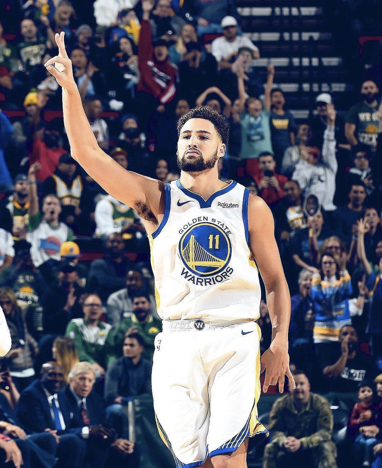 The Warriors Head To Seattle For The First Time In 10 Years As They Take On The Kings For Another Pres Klay Thompson Klay Thompson Wallpaper Thompson Warriors