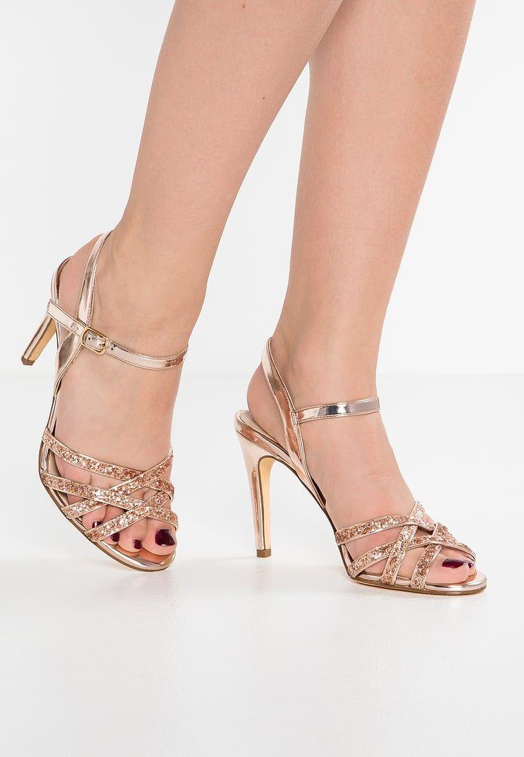 66c5afb332ca7 Buffalo Sandales à talons hauts - metallic glitter/rose gold ...