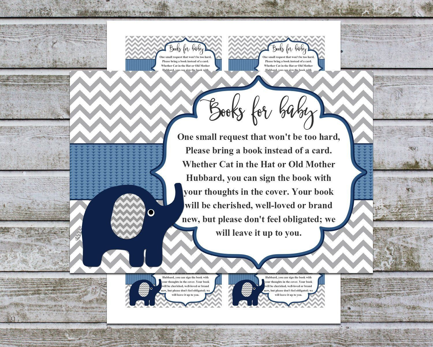 Baby shower bring a book instead of a card book request