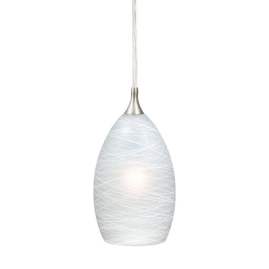 Cascadia lighting milano in satin nickel mini art glass teardrop