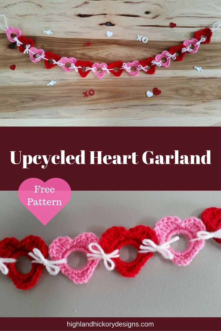 Upcycled Shamrocks - Free Crochet Pattern   Pinterest   Heart ...