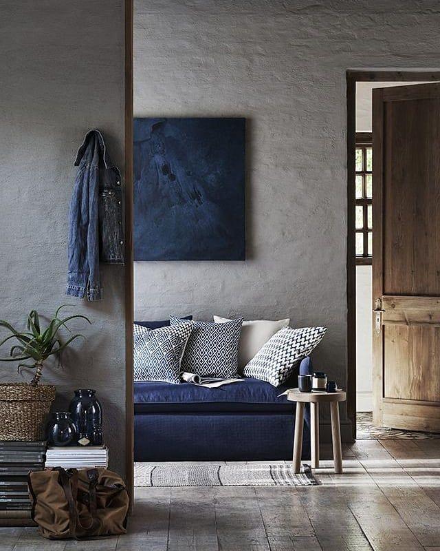 "Scandinavian meets Industrial 在 Instagram 上发布:""Love the combination of Blue, Grey & the Wooden ..."