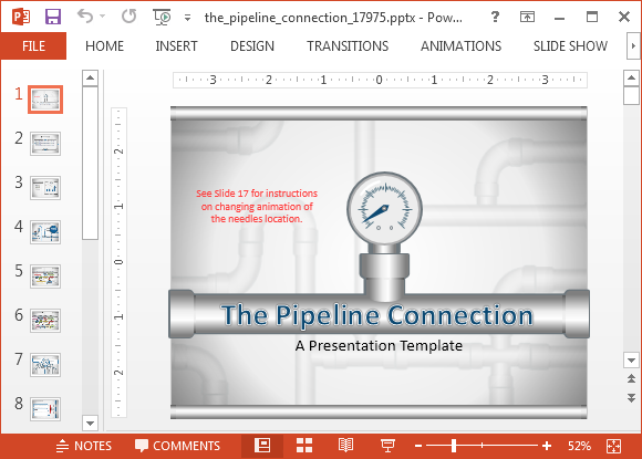 Animated pipeline connection powerpoint template digital animated pipeline connection powerpoint template toneelgroepblik Image collections