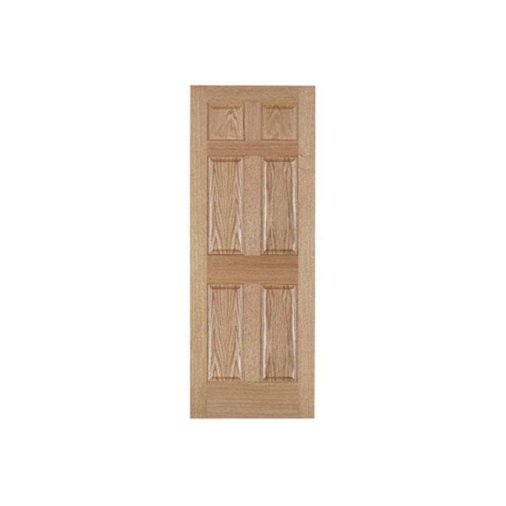 Pacific Mills 32 In X 80 In 6 Panel Solid Core Oak Interior Door Slab 6p Ro 32 The Home Depot Doors Interior Oak Interior Doors Prehung Interior Doors