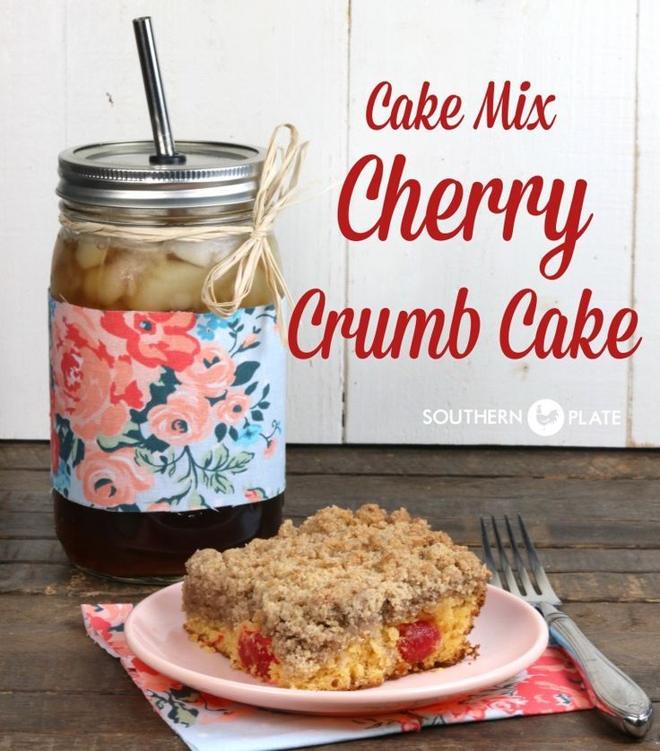 cake mix cherry crumb cake ~ http://www.southernplate