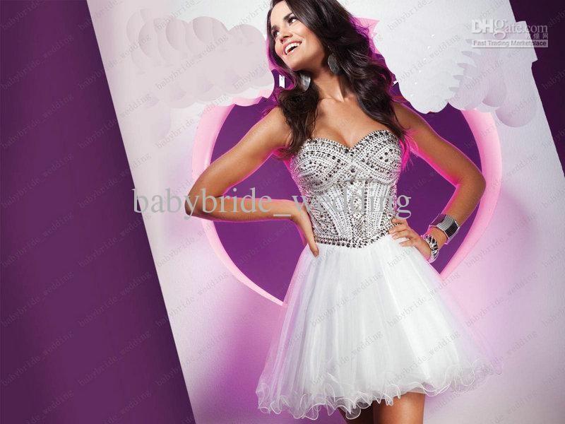 Wholesale Tony Bowls ts11368 White Princess Dress Ruffles Homecoming ...
